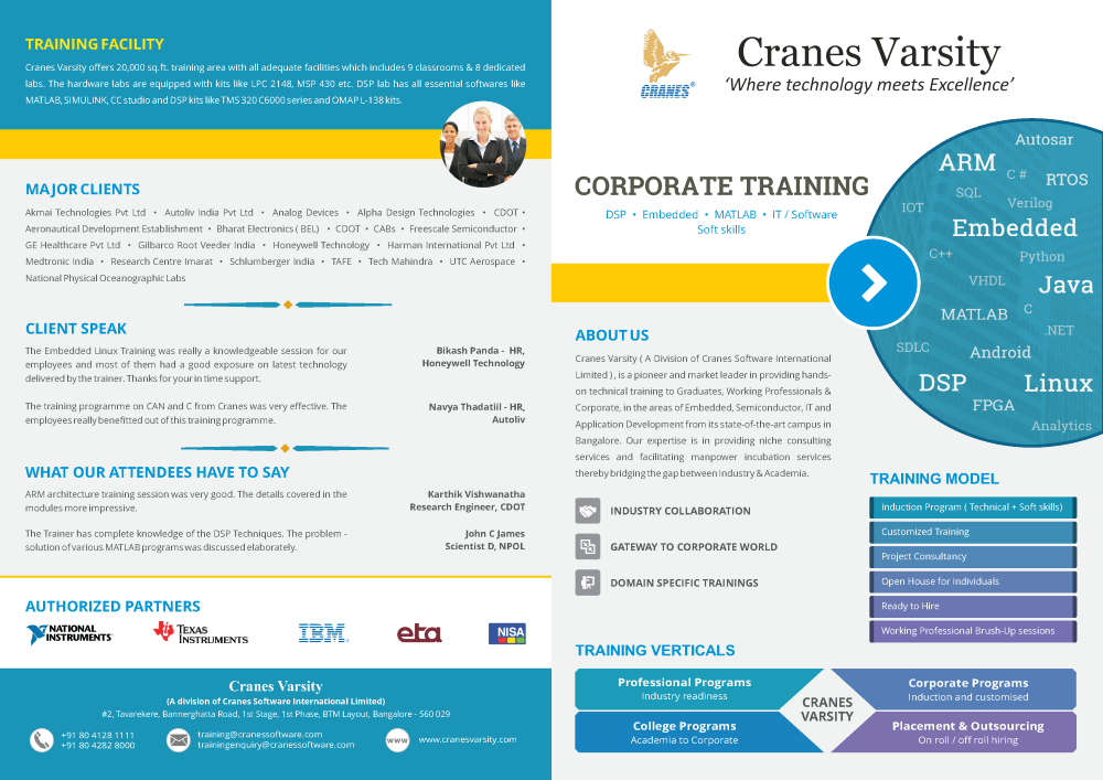 Cranes Embedded Systems Training - The Best Crane Of 2018