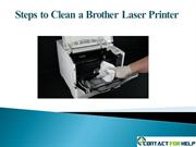 Steps to Clean a Brother Laser Printer