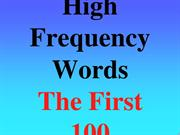 HighFreqWords1-100