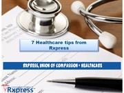 Rxpress Healthcare Tips