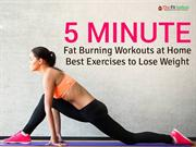 5 Minute Fat Burning Workouts at Home - Best Exercises to Lose Weight