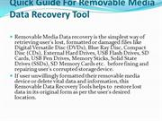 Quick Guide For Removable Media Data Recovery Tool
