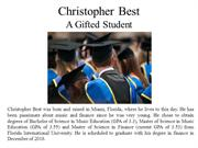 Christopher Best - A Gifted Student