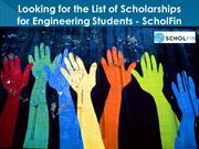 Find the List of Scholarships for engineering students-ScholFin