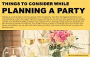 Things to consider while planning a party
