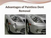 Advantages of Paintless Dent Removal