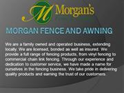 Morgan Fence and Awning