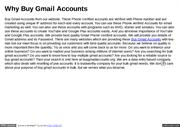 Why Buy Gmail Accounts