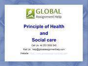 Sample On Health and Social Care