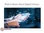 Need to Know About Digital Literacy
