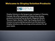 Trade Show Display Booth with Custom Design