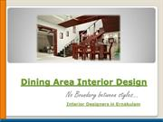 dining area interior design- interior designers in bangalore