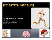 CLASS EXCRETION OF DRUGS