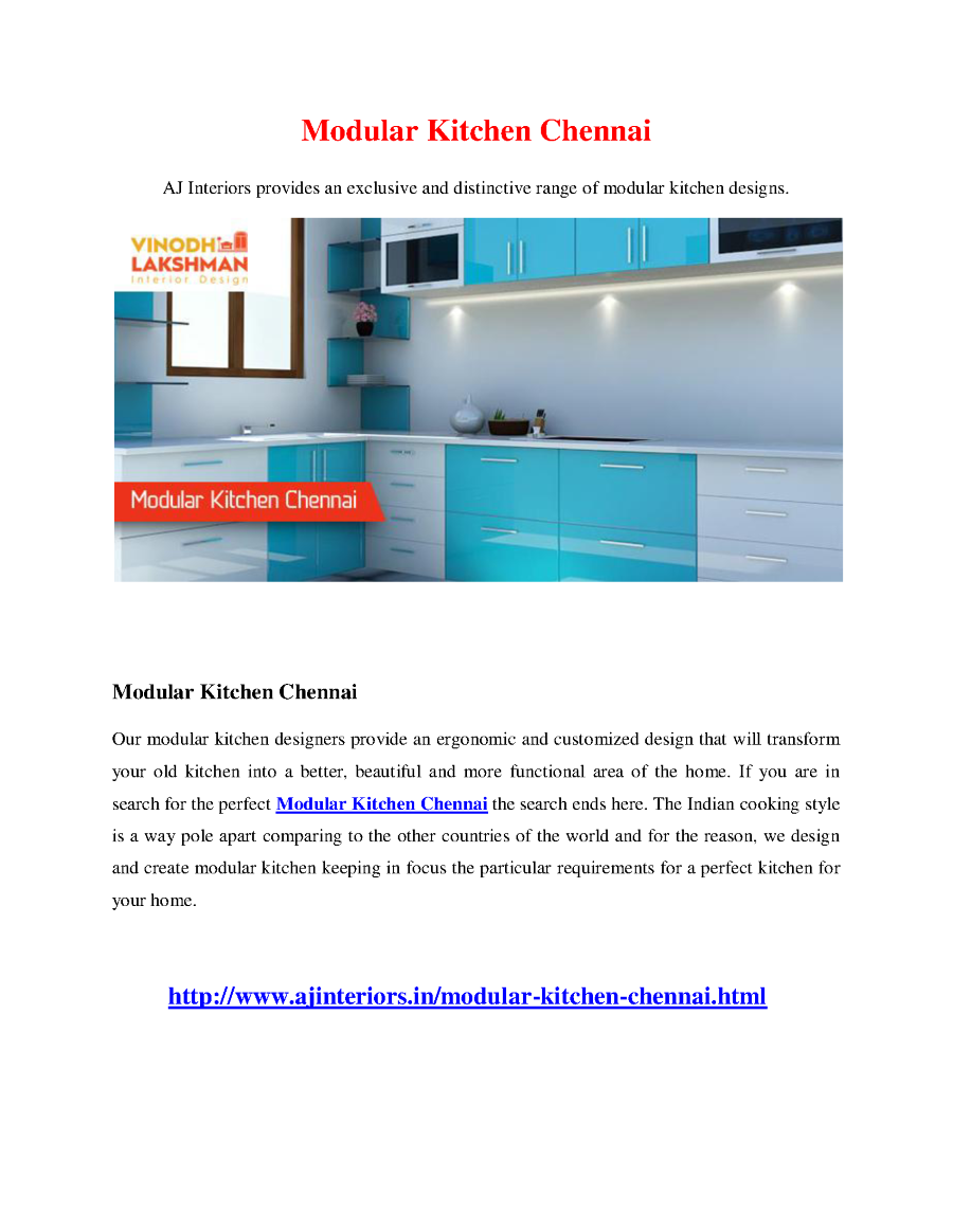 Modular Kitchen Chennai |authorSTREAM