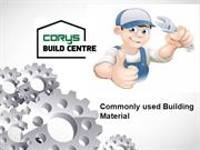 Commonly used Building Material