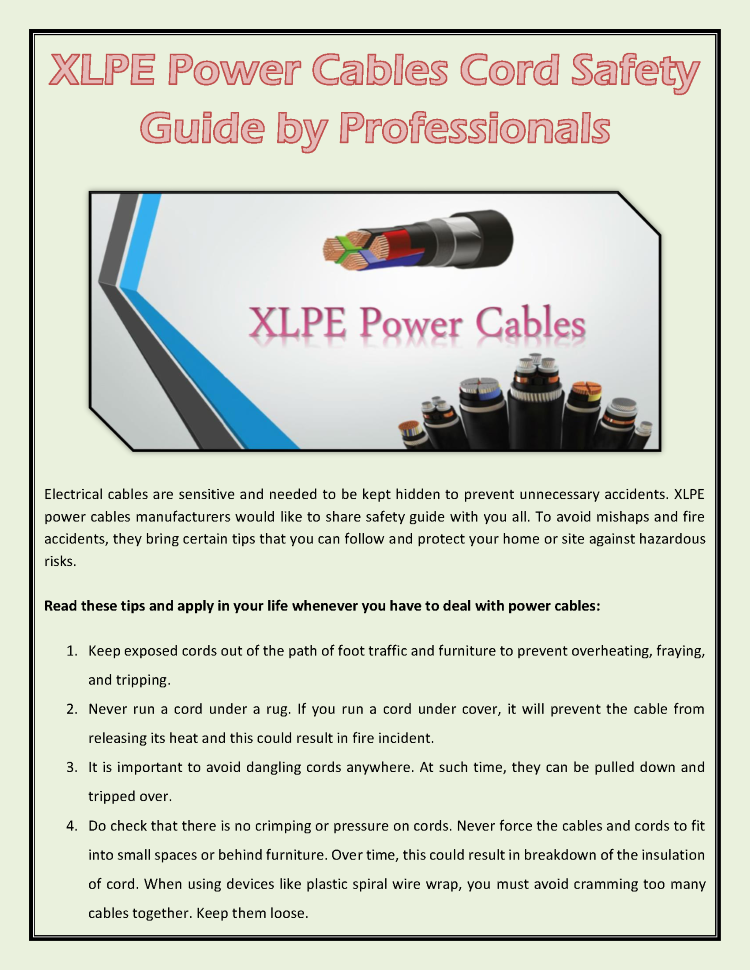 XLPE Power Cables Cord Safety Guide by Professionals |authorSTREAM