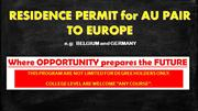 Residence Permit to Europe