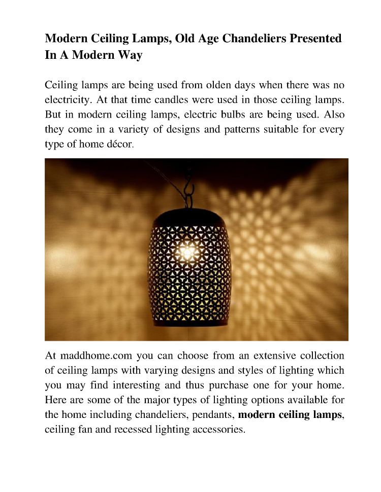 Modern Ceiling Lamps Old Age Chandeliers Presented In A Wa Authorstream