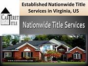 Established Nationwide Title Services in Virginia, US