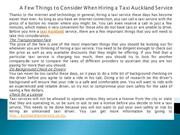 A Few Things to Consider When Hiring a Taxi Auckland Service