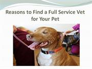 Reasons to Find a Full Service Vet for Your Pet