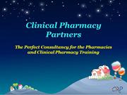 Clinical Pharmacy Training  The Perfect Consultancy for the Pharmacies