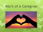 Abc's of a Caregiver