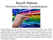 Russell Maksuta Giving An Overview of Wireless Communications