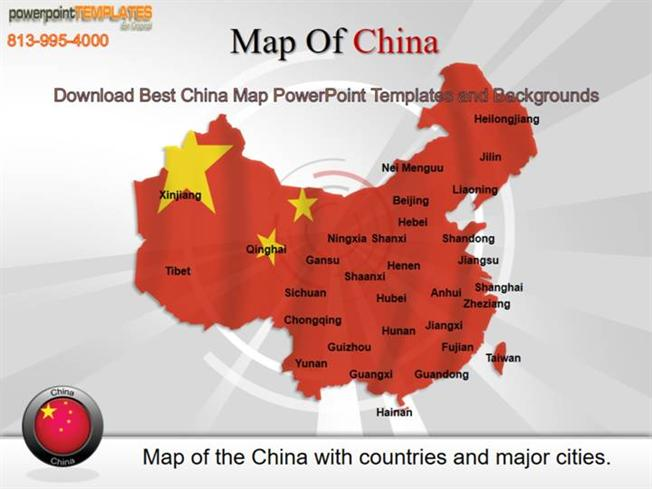 download best china map powerpoint templates and backgrounds, Modern powerpoint