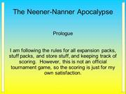 NeenerNanner 0 - Prologue