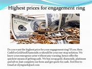 Highest price for your engagement ring