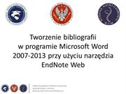7. EndNote - Word 2007-2013