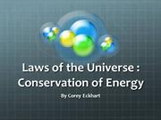 Conservation of Energy Unit Plan