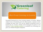 Best Event catering in London