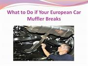 What to Do if Your European Car Muffler Breaks