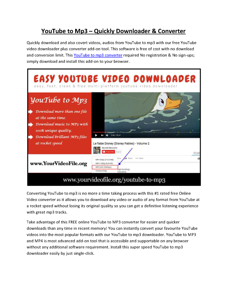 youtube to mp3 high quality download online