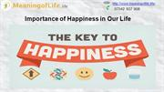 Importance of Happiness in Our Life