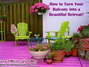 How to Turn Your Balcony into a Beautiful Retreat
