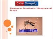 Homeopathic Remedies for Chikungunya and Dengue