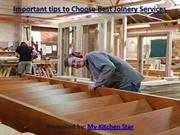 Important tips to Choose Best Joinery Services