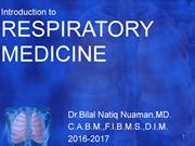 L1-Introduction to respiratory medicine