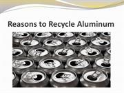 Reasons to Recycle Aluminum