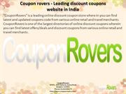 Coupon rovers - Leading discount coupons website in india