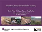 Impacts of landslides on society