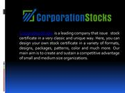 Printing Administration Software for Stock Certificates
