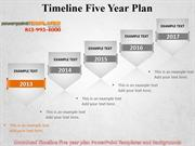 Download Timeline Five year plan Powerpoint Templates and Backgrounds