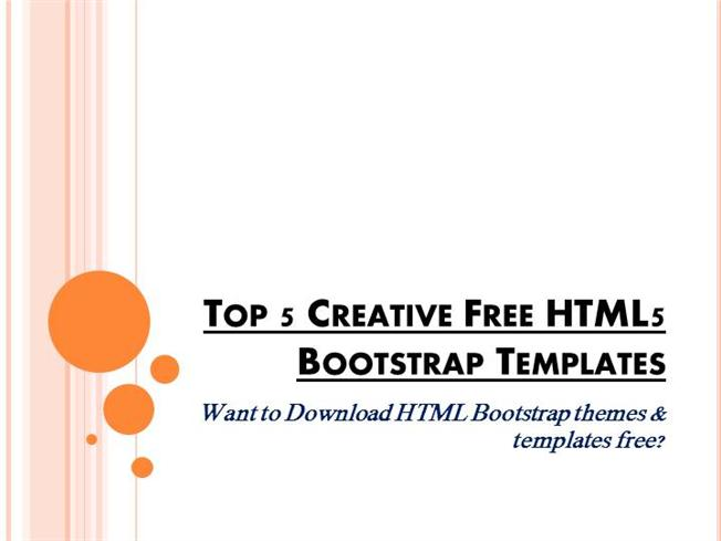 top 5 creative free html5 bootstrap templates authorstream