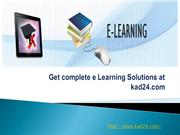 Get complete e Learning Solutions at kad24.com