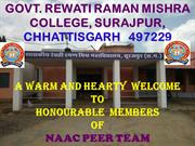 NAAC PPT of RRM