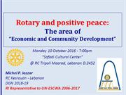 Rotary and Positive Peace: Economic and Community Development